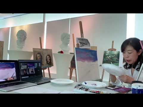 Visual Arts Centre ZOOM LIVE Acrylic Landscape Painting series