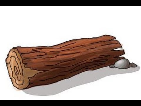 How to draw a log - YouTube