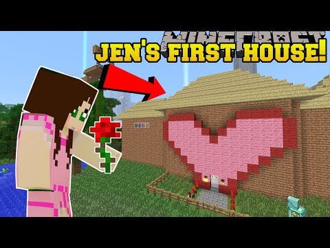 Minecraft: JEN'S FIRST HOUSE EVER!!! - Видео из Майнкрафт (Minecraft)