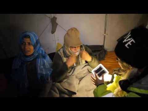 Giving Light to the Syrian Refugees - Lesbos Greece