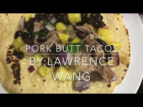 Pork Butt Tacos with Pineapple Salsa
