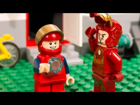 LEGO Marvel Super Heroes - Iron Man: Learn what it means to be a hero with Tony Stark, as he spends the day hanging out with Iron Man's biggest fan. Made by Paganomation for LEGO.com in early 2013.  Storyboards: Greg Hyland, Mick Bouschor Design, Animation, Editing, and Effects: Mick Bouschor, Valerie Champagne, David Pagano TLG Art Director: Joe Galluccio TLG Project Manager: Amy Kelly Sound Design: Tapeworks Inc.  Hardware: Canon 7D Software: Dragonframe Stop Motion, Adobe After Effects Frame rate: 15 fps