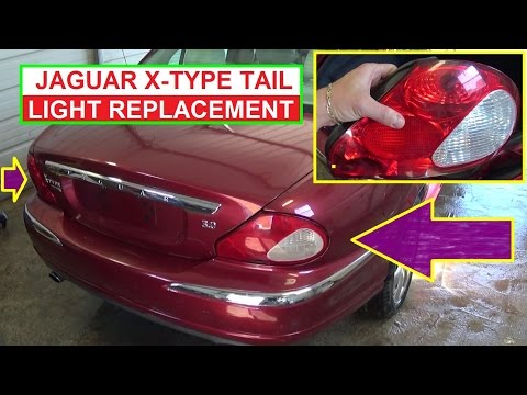 How to Remove and Replace tail light on Jaguar X-TYPE  Rear Left Right Tail Light Replacement