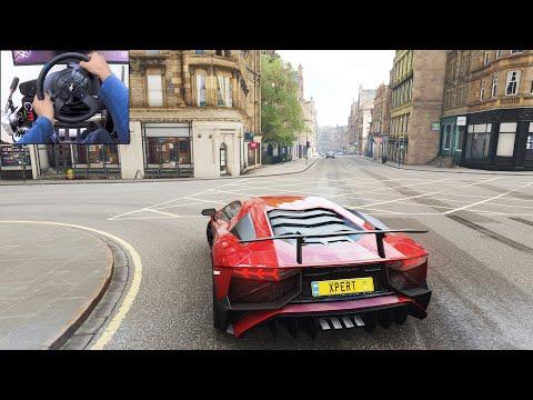 Lamborghini Aventador SV – Forza Horizon 4 | Thrustmaster T300RS gameplay