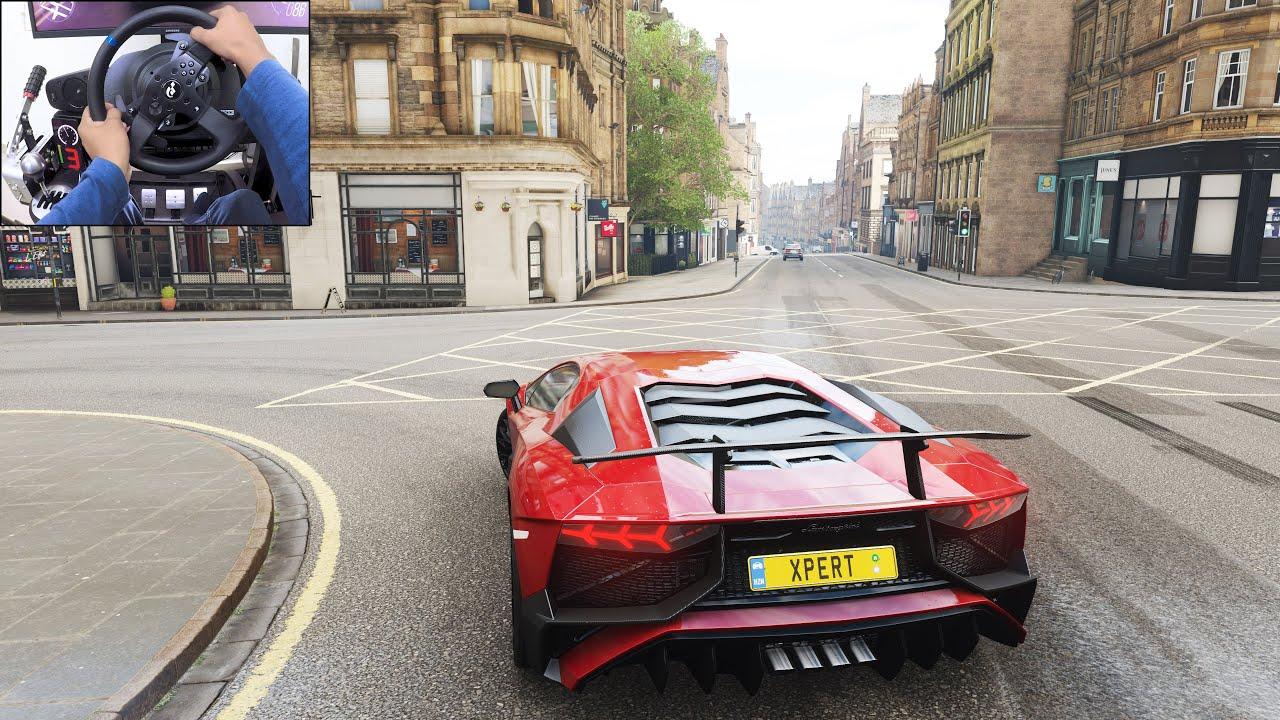 Lamborghini Aventador SV - Forza Horizon 4 | Thrustmaster T300RS gameplay