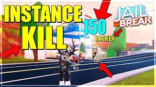 INSTANCE KILL GLITCH IN JAILBREAK ROBLOX |150+ DAMAGE (ROBLOX)