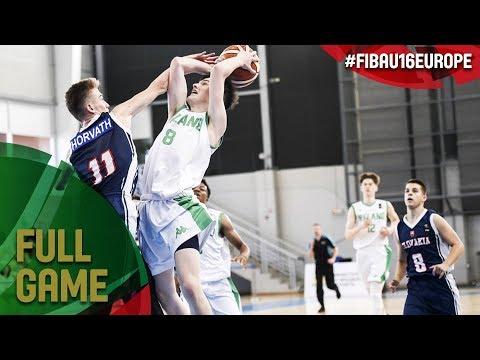 Ireland v Slovak Republic - Full Game - FIBA U16 European Championship 2017 - DIV B