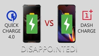 Asus Rog Phone vs OnePlus 6T: Battery Charge Test