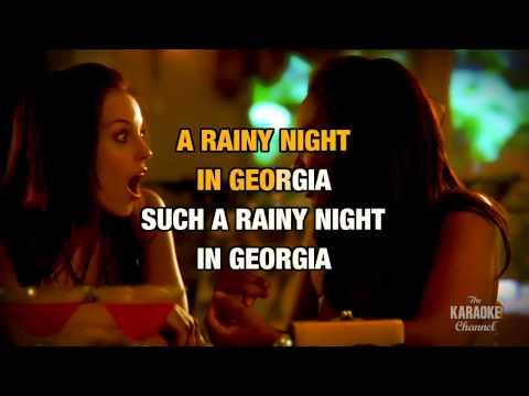 "Rainy Night In Georgia in the Style of ""Brook Benton"" with lyrics (no lead vocal)"