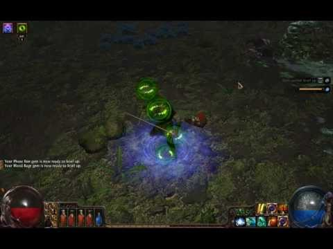 Path of Exile: flicker/bloodrage Shadow