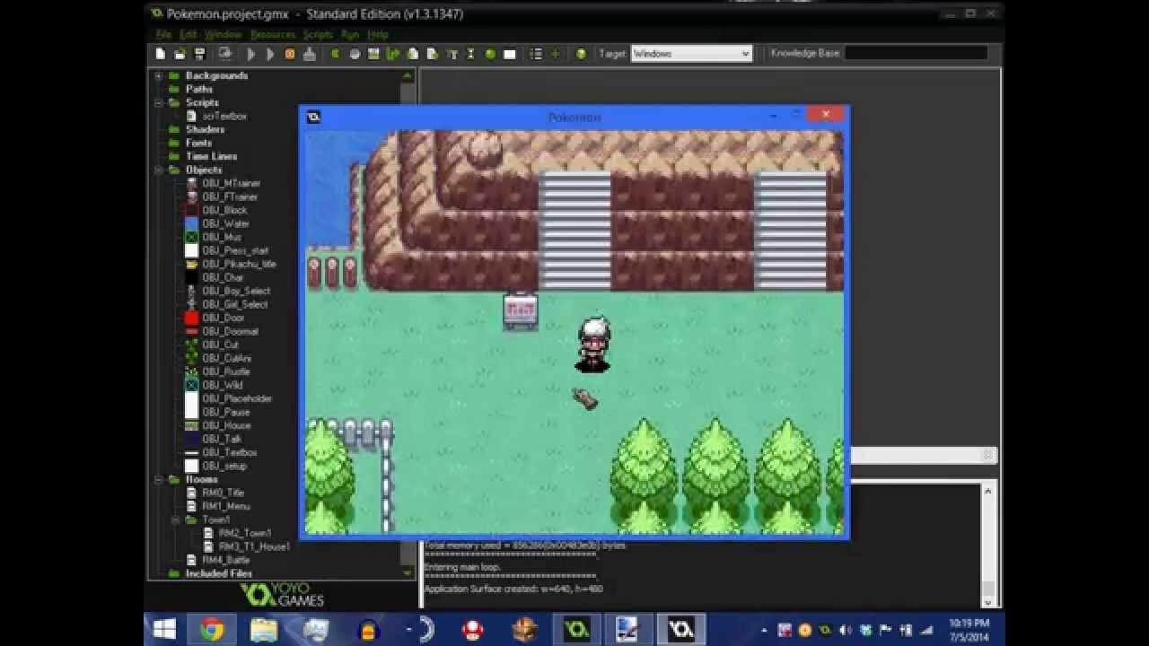Updated pokemon engine for Game maker studio  YouTube