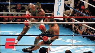 """Relive Buster Douglas' 10th-round knockout of then-unbeaten """"Iron"""" Mike Tyson in their heavyweight title fight in Tokyo, Japan, on February 11, 1990. Douglas' ..."""