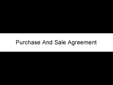 Purchase And Sale Agreement