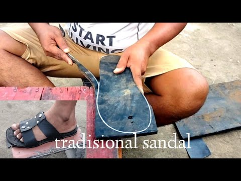production of traditional sandals from Indonesia since 1930