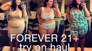 FOREVER 21 PLUS TRY ON HAUL | Spring is in the Air!