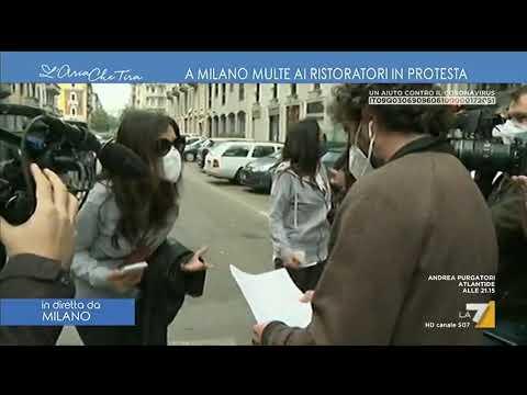 Multe ai manifestanti in protesta, Myrta Merlino: 'Non ha senso, non molliamo e vi aiutiamo'