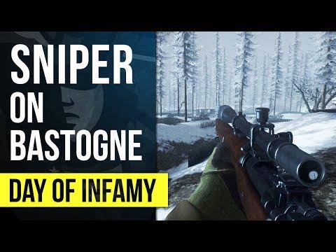 SNIPER ON BASTOGNE | Day of Infamy Gameplay