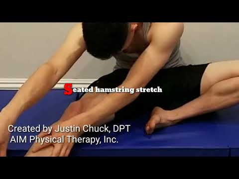 Hamstring and groin stretches with meditation breathing