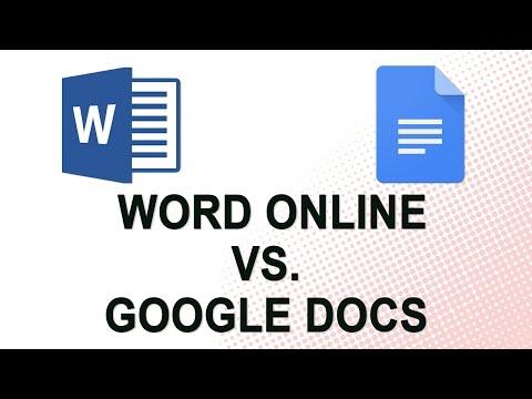 Word Online vs. Google Docs (NO YOUTUBE ADS)