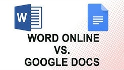 Word Online vs. Google Docs (NO YOUTUBE ADS)