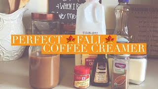 FALL FAVORTIES | HOMEMADE FALL CREAMER