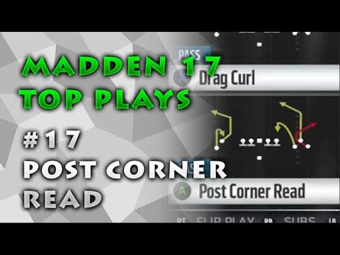 Madden 17 Top Plays   #17 Post Corner Read   Arizona Cardinals   EARLY FOOTAGE