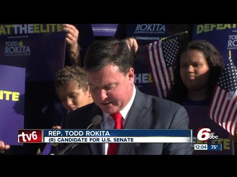 Indiana congressman Todd Rokita announced Wednesday he's running for U.S. Senate