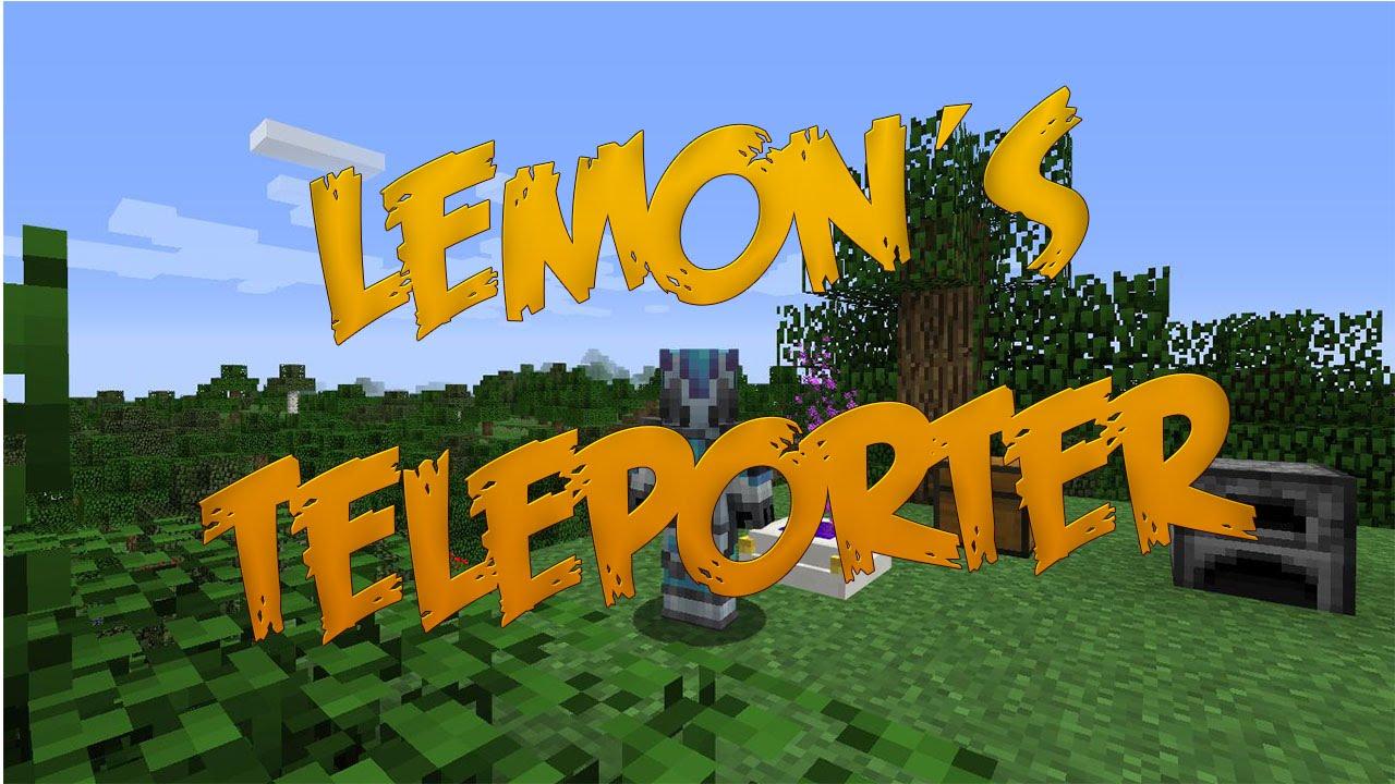lemon s teleporter mod review minecraft 1 8 9 youtube. Black Bedroom Furniture Sets. Home Design Ideas