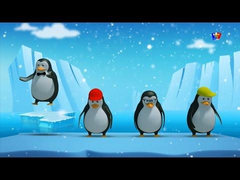 Пять маленьких пингвинов | Детские рифмы для детей | Five Little Penguins | Nursery Rhymes For Kids