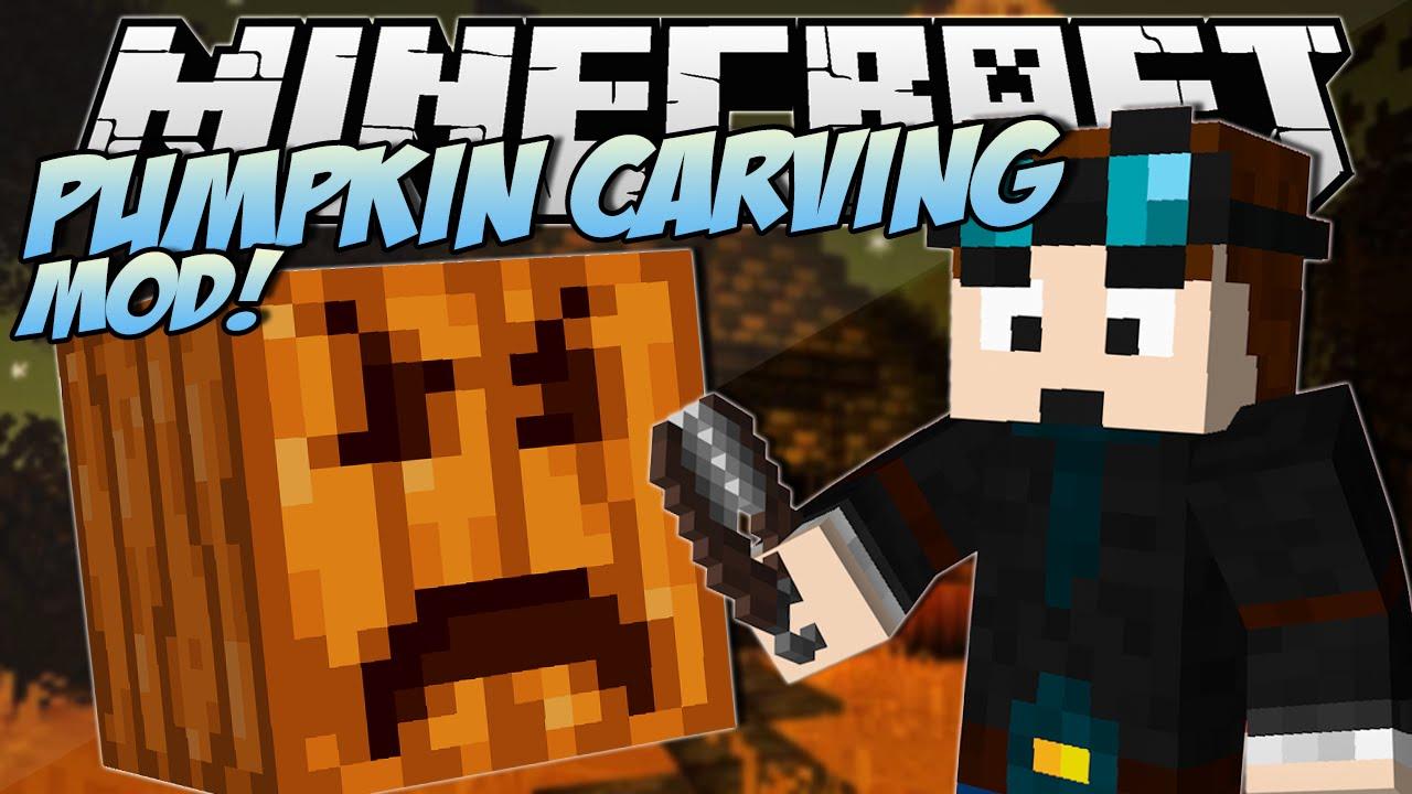 Minecraft pumpkin carving mod! create any pumpkin design! mod