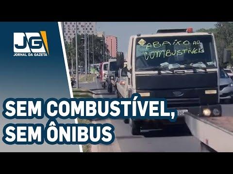 Prefeitura suspende metade da circulação ônibus amanhã pela falta de combustível