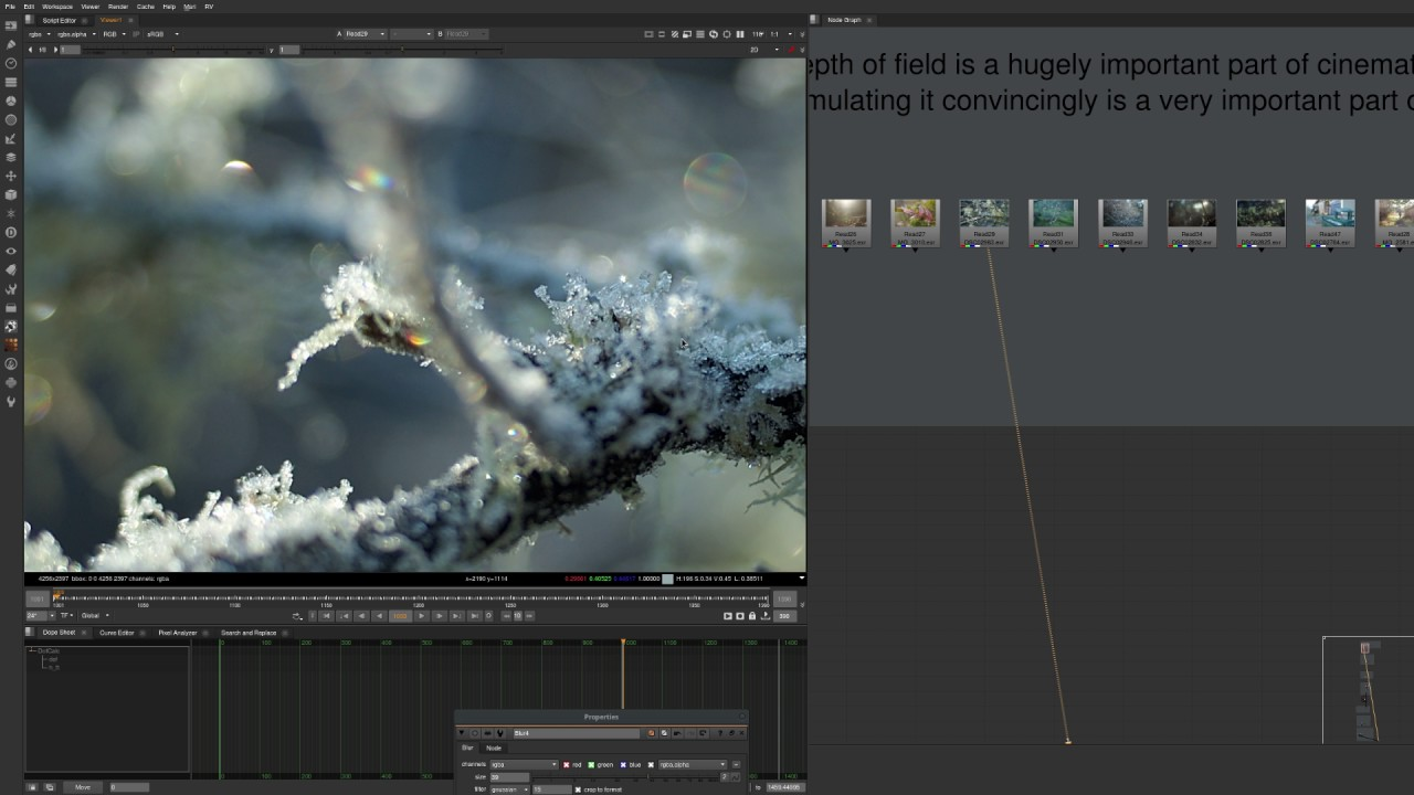 Simulating Physically Accurate Depth of Field in Nuke
