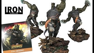 Iron Studios Avengers Infinity War Cull Obsidian 1/10 Art Scale Battle Diorama Series Statue Review