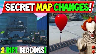 "*NEW* FORTNITE SECRET MAP CHANGES ""Fortnite X IT"" + ""2 NEW RIFT BEACONS!"""