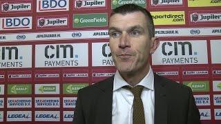 Marinus Dijkhuizen geniet van eerste avondje NAC als hoofdcoach