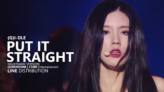(G)I-DLE (여자)아이들 - 싫다고 말해 PUT IT STRAIGHT Nightmare Version | Line Distribution