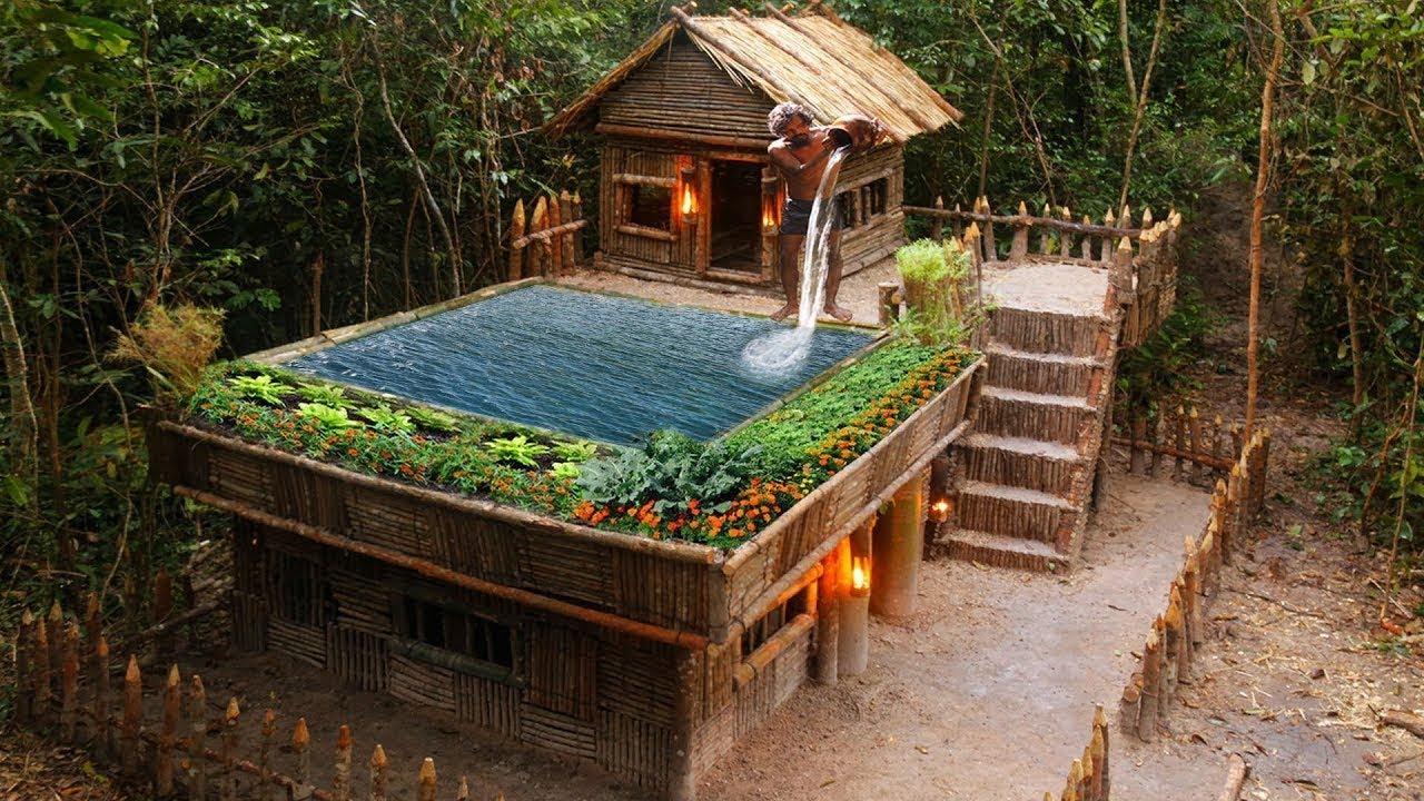 Làm nhà trong rừng tuyệt đẹp | Sinh tồn trong rừng