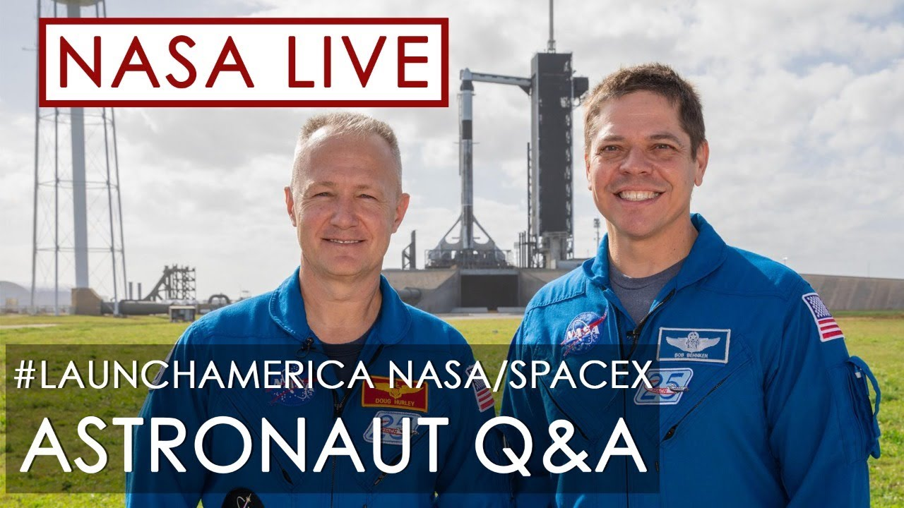 Virtual Crew Engagement with Astronauts Bob Behnken and Doug Hurley - NASA Video