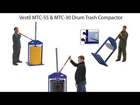 Vestil MTC-55 Drum Trash Compactor (2020)