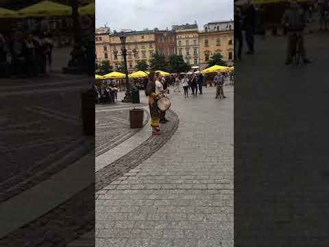 Street performance Krakow