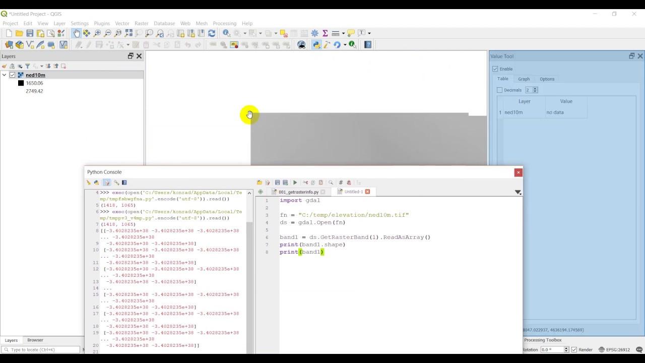 Python GIS - Read raster data as numpy array (GDAL)