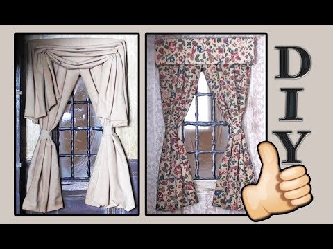 Easy Dollhouse Curtains or Drapes Tutorial - Super Simple Miniatures