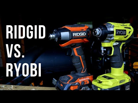 RIDGID vs. RYOBI / Ridgid Gen5x Impact Driver vs. Ryobi 18v Cordless Impact Driver. (SHOCKING!)