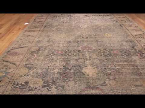 17th Century Large Antique Isfahan Persian Rug 49141 Nazmiyal