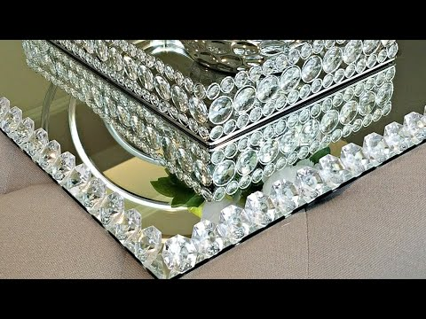 Mirror Decor Ideas   How To Make a Large Mirrored Tray  Channel Update