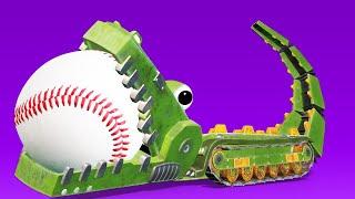 АнимаКары - КРАБ МУЛЬТИТУЛ нашёл древнее сокровище !! - мультфильмы для детей с машинами и животными