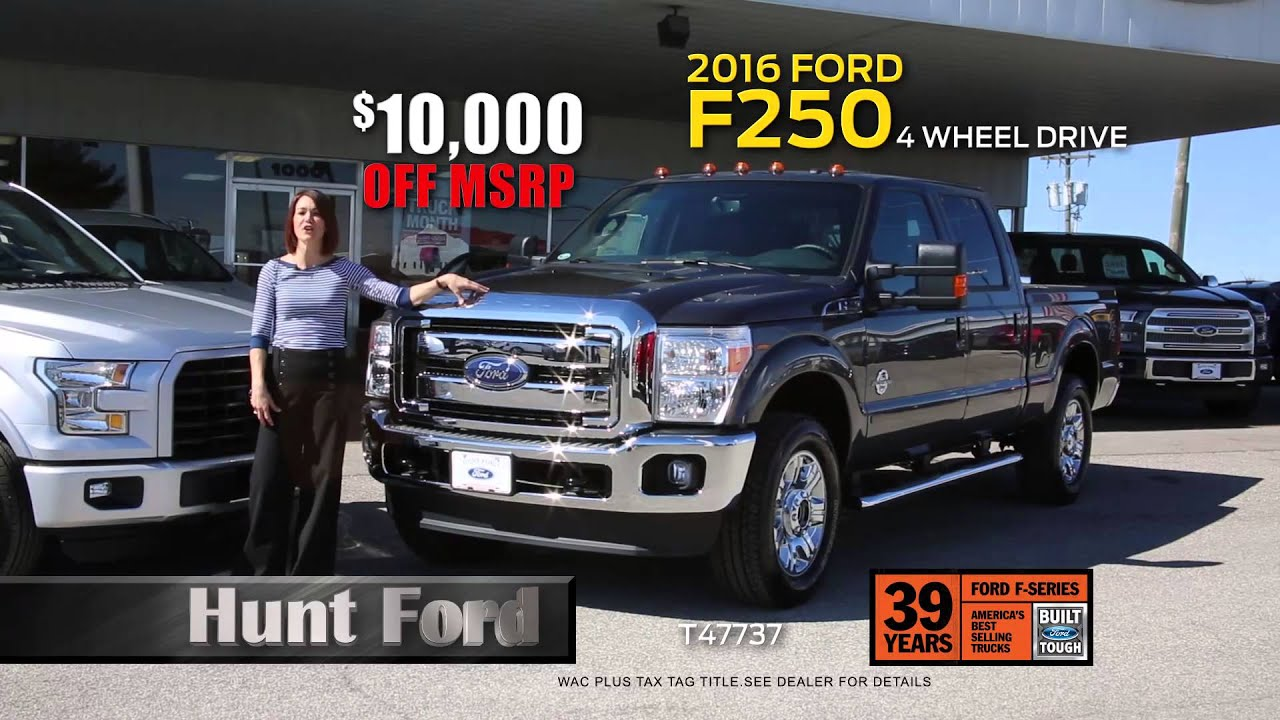 2016 Ford Truck Month at Hunt Ford in Franklin KY