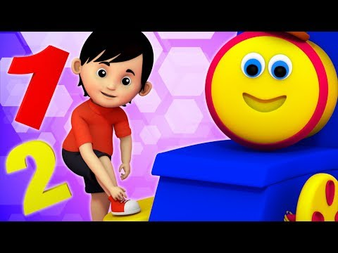 One Two Buckle My Shoe | Bob The Train Cartoons | Songs For Children