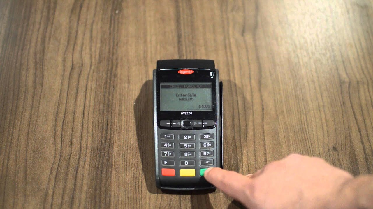 Capture a Pre-Authorized Credit Card Transaction on an Ingenico iWL220 &  iCT220 Credit Card Terminal