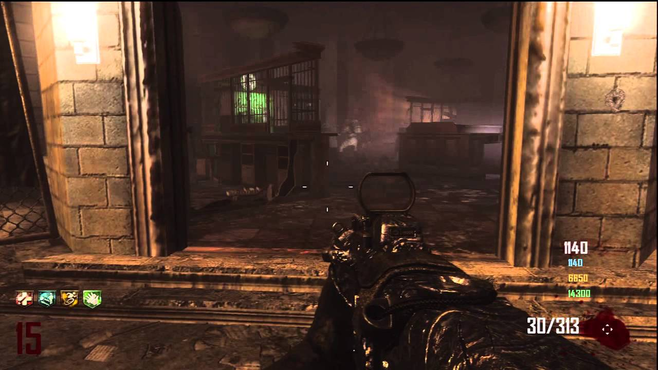 Game Glitched Black ops 2- Zombies- Survival Green Run (Town)